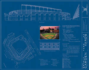 Camden yards baltimore orioles blueprint mailing list malvernweather Image collections