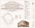 Ebbets Field Brooklyn Dodgers Blueprint