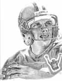 Joe Montana San Francisco 49ers Limited Edition Lithograph By Don Leo