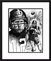 Terry Bradshaw Pittsburgh Steelers Limited Edition Lithograph