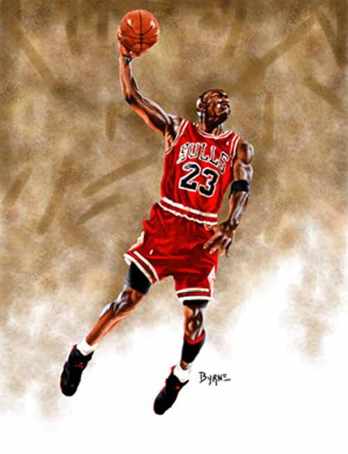 8 X 10 Michael Jordan Chicago Bulls Limited Edition Giclee Series #1