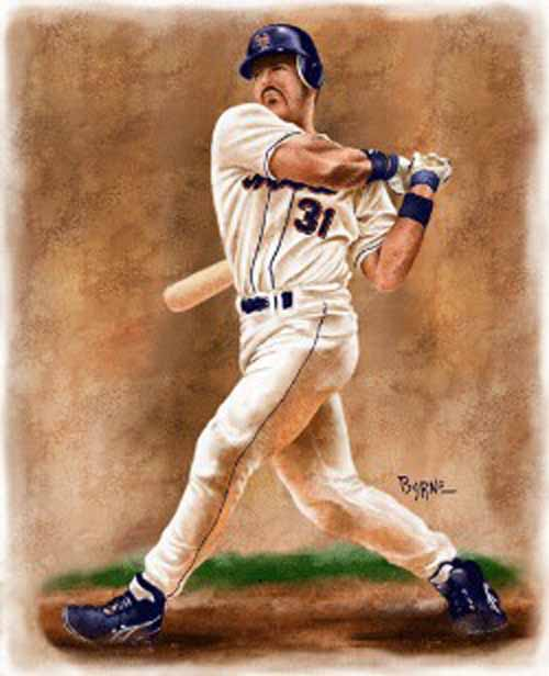 11 X 14 Mike Piazza New York Mets Limited Edition Giclee Series #1