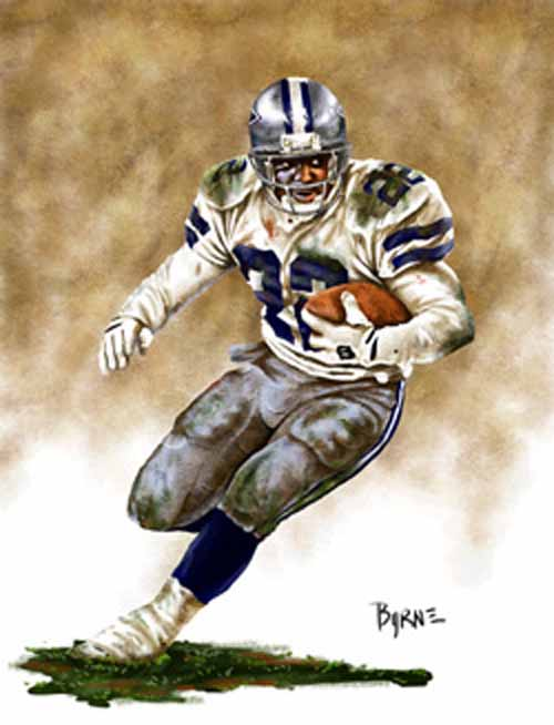 8 X 10 Emmitt Smith Dallas Cowboys Limited Edition Giclee Series #1
