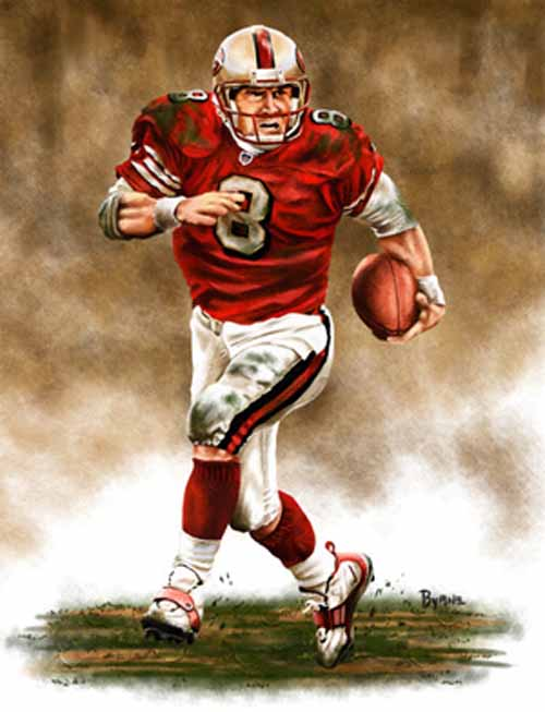 13 X 17 Steve Young San Francisco 49ers Limited Edition Giclee Series #1