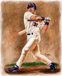 13 X 17 Mike Piazza New York Mets Limited Edition Giclee Series #1