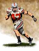 11 X 14 A.J. Hawk Ohio State Buckeyes Limited Edition Giclee Series #1