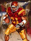 8 X 10 Lendale White USC Trojans Limited Edition Giclee Series #1