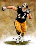 11 X 14 Alan Faneca Pittsburgh Steelers Limited Edition Giclee Series #1