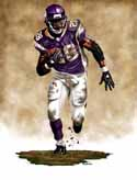 11 X 14 Adrian Peterson Minnesota Vikings Limited Edition Giclee Series #1