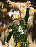 11 X 14 Brett Favre Green Bay Packers Limited Edition Giclee Series #2