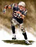 11 X 14 Corey Dillon New England Patriots Limited Edition Giclee Series #1