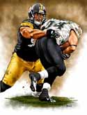 11 X 14 Casey Hampton Pittsburgh Steelers Limited Edition Giclee Series #1