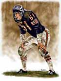 11 X 14 Dick Butkus Chicago Bears Limited Edition Giclee Series #1