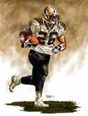 11 X 14 Deuce McAllister New Orleans Saints Limited Edition Giclee Series #1