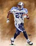 11 X 14 Eddie George Tennessee Titans Limited Edition Giclee Series #1