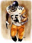 11 X 14 Joey Porter Pittsburgh Steelers Limited Edition Giclee Series #1