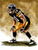 11 X 14 Larry Foote Pittsburgh Steelers Limited Edition Giclee Series #1