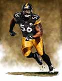11 X 14 Lamar Woodley Pittsburgh Steelers Limited Edition Giclee Series #1
