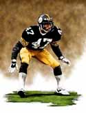 11 X 14 Mel Blount Pittsburgh Steelers Limited Edition Giclee Series #1