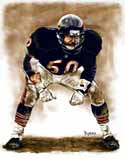 13 X 17 Mike Singletary Chicago Bears Limited Edition Giclee Series #1
