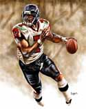 13 X 17 Michael Vick Atlanta Falcons Limited Edition Giclee Series #1