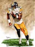13 X 17 Plaxico Burress Pittsburgh Steelers Limited Edition Giclee Series #1