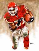 13 X 17 Priest Holmes Kansas City Chiefs Limited Edition Giclee Series #1