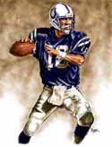 13 X 17 Peyton Manning Indianapolis Colts Limited Edition Giclee Series #1