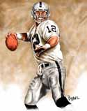 13 X 17 Rich Gannon Oakland Raiders Limited Edition Giclee Series #1