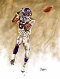13 X 17 Randy Moss Minnesota Vikings Limited Edition Giclee Series #1