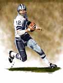 13 X 17 Roger Staubach Dallas Cowboys Limited Edition Giclee Series #1