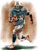 13 X 17 Ricky Williams Miami Dolphins Limited Edition Giclee Series #1