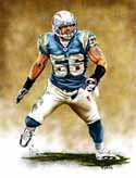 13 X 17 Shawne Merriman San Diego Chargers Limited Edition Giclee Series #1