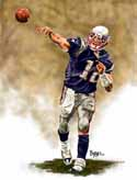 13 X 17 Tom Brady New England Patriots Limited Edition Giclee Series #1