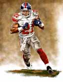 13 X 17 Tiki Barber New York Giants Limited Edition Giclee Series #1