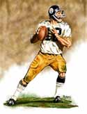 11 X 14 Terry Bradshaw Pittsburgh Steelers Limited Edition Giclee Series #1