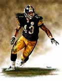 13 X 17 Troy Polamalu Pittsburgh Steelers Limited Edition Giclee Series #1
