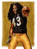 13 X 17 Troy Polamalu Pittsburgh Steelers Limited Edition Giclee Series #3