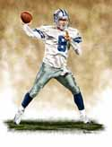 13 X 17 Tony Romo Dallas Cowboys Limited Edition Giclee Series #1