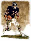 13 X 17 Walter Payton Chicago Bears Limited Edition Giclee Series #1