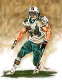 13 X 17 Zach Thomas Miami Dolphins Limited Edition Giclee Series #1
