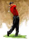 8 X 10 Tiger Woods Golf Limited Edition Giclee Series #1