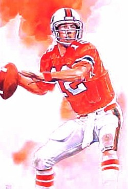 promo code a2625 7a72c Jim Kelly Miami Hurricanes Limited Edition Print