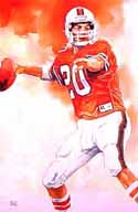 Bernie Kosar Miami Hurricanes Limited Edition Print