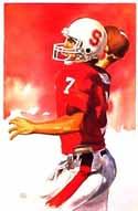 John Elway Stanford Cardinal Limited Edition Print