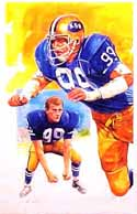 Jack Lambert Kent State Golden Flashes Limited Edition Print