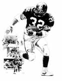 Franco Harris Pittsburgh Steelers Limited Edition Lithograph