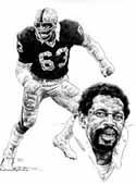 Gene Upshaw Oakland Raiders Limited Edition Lithograph