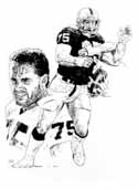 Howie Long Oakland Raiders Limited Edition Lithograph