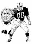 Jim Otto Oakland Raiders Limited Edition Lithograph